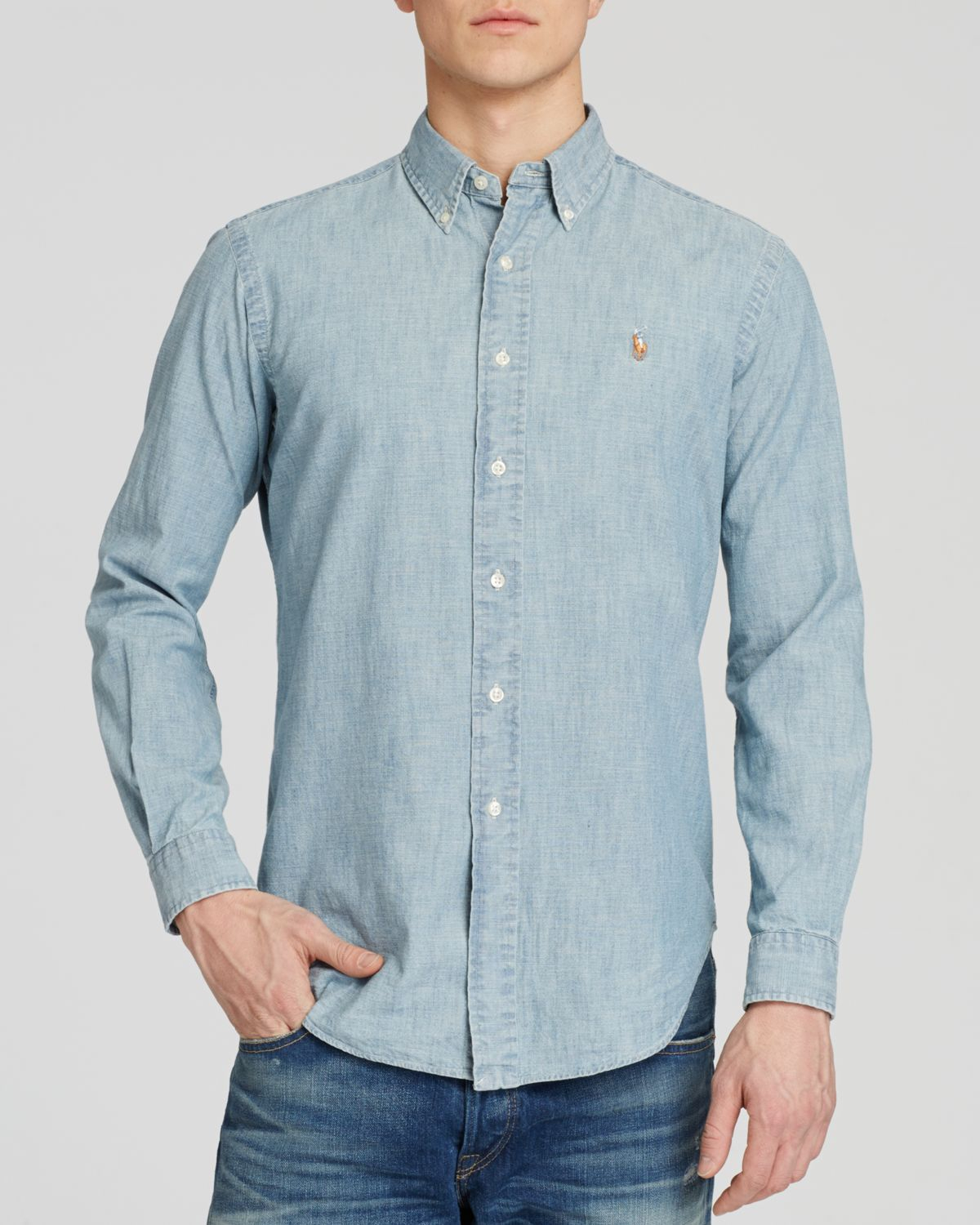 Polo Ralph Lauren Chambray Button Down Shirt Classic Fit