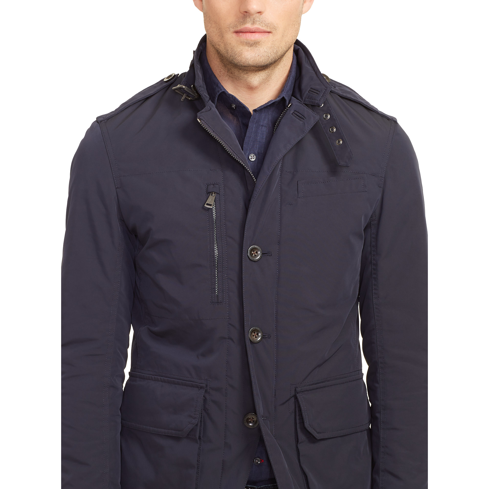 Ralph lauren black label Modern Military Sport Coat in Blue for ...