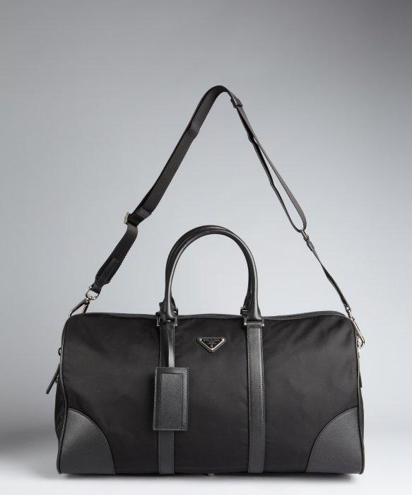 prada multicolor handbags - Prada Nylon Zip Duffle Bag in Black for Men | Lyst