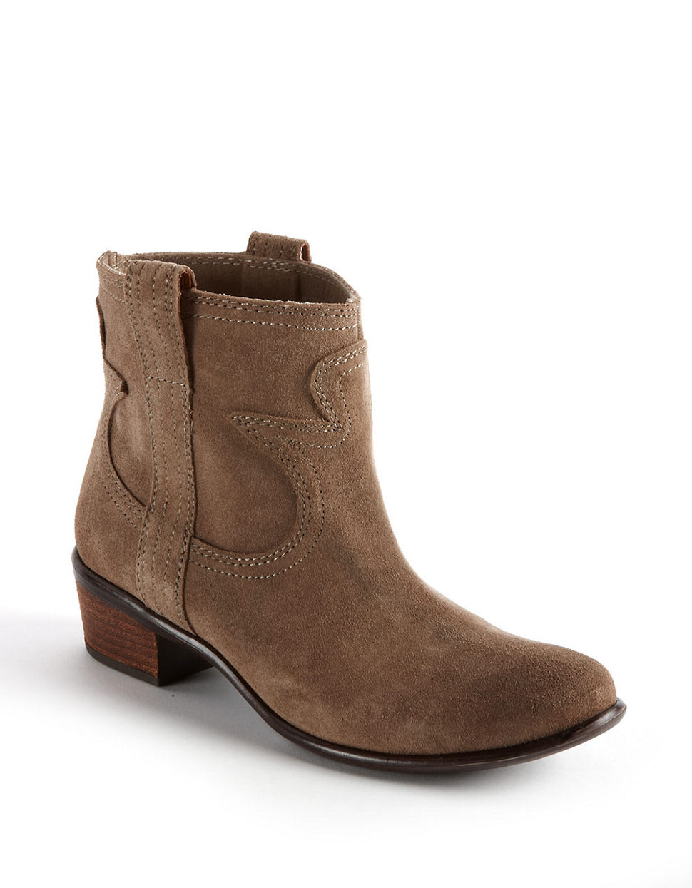 lucky brand terra suede boots in brown lyst