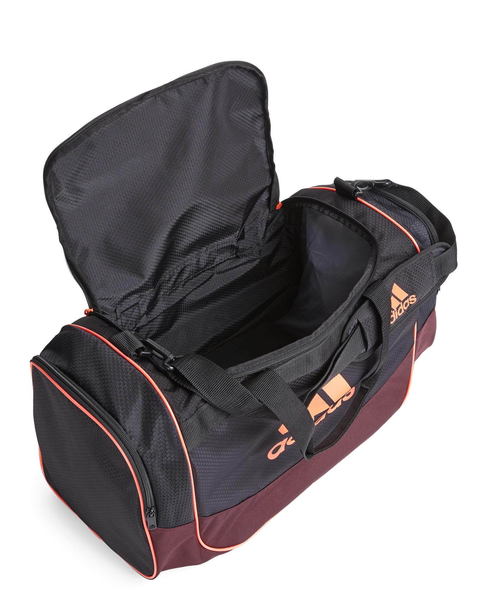 2f7fbab52cba Lyst - adidas Black   Neon Orange Defense Medium Duffel Bag in Black ...