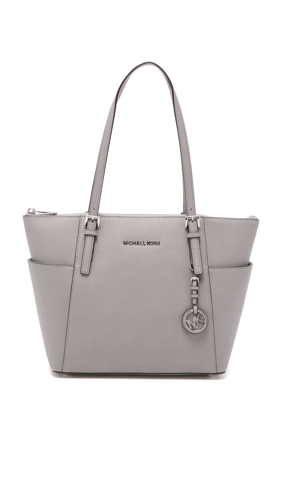 06c0c68344f7 MICHAEL Michael Kors Jet Set Top Zip Tote in Gray - Lyst