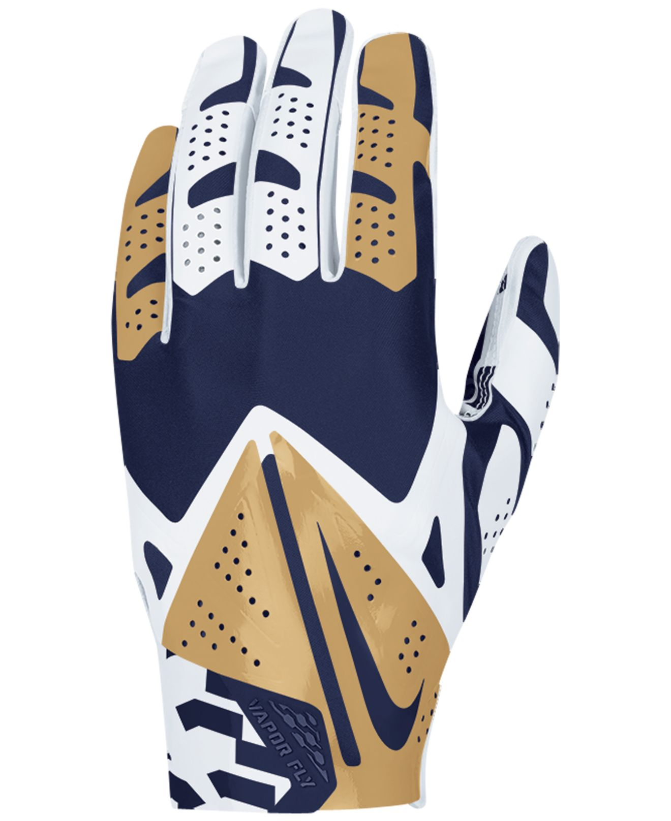 nike st louis rams vapor fly team authentic glove in blue