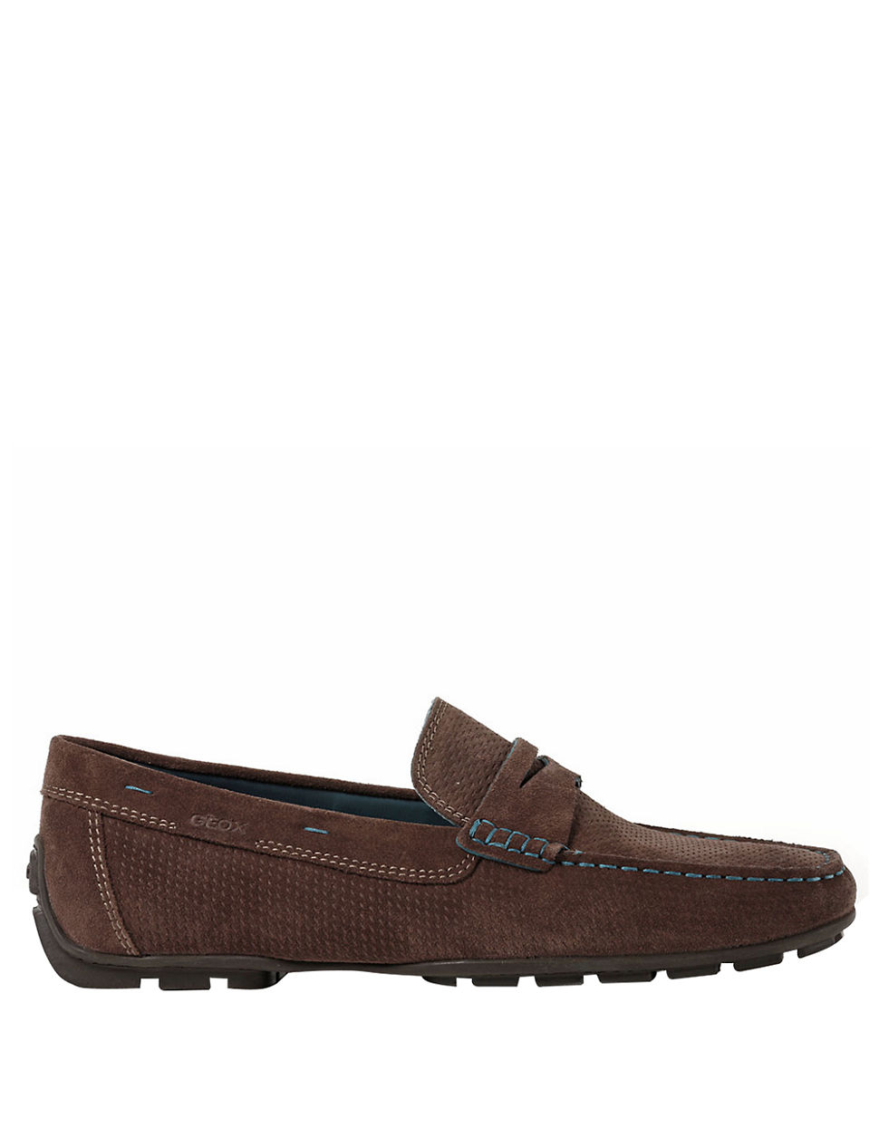 geox monet26 suede moccasins in brown for brown