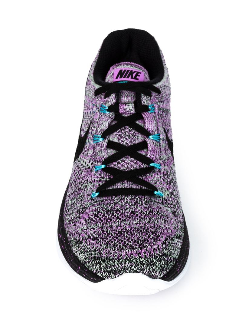 1ad5d9eafb0e0 ... where can i buy lyst nike flyknit lunar 3 sneakers in pink 2c26c d1725