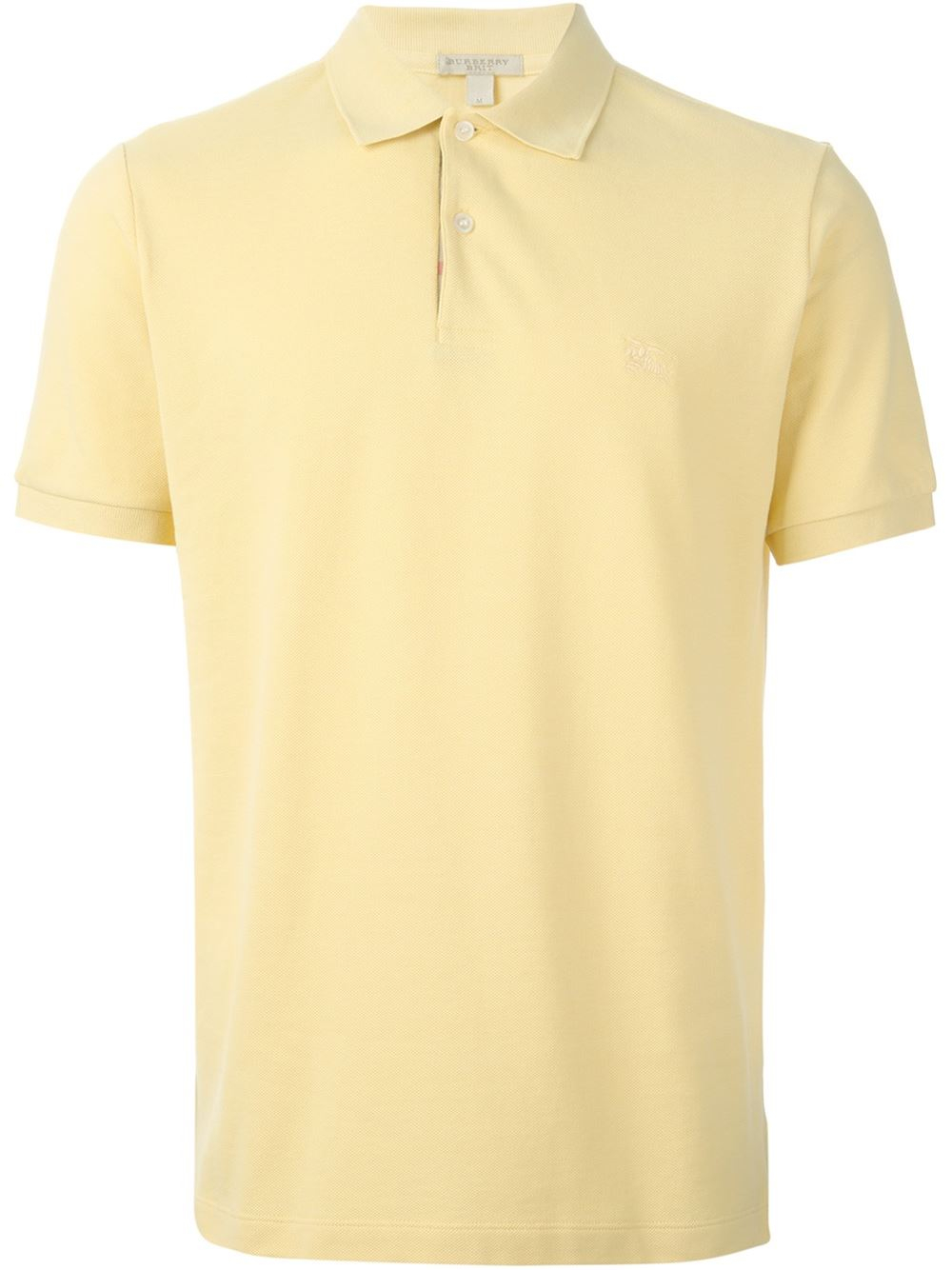 Burberry Brit Classic Polo Shirt In Yellow For Men Yellow