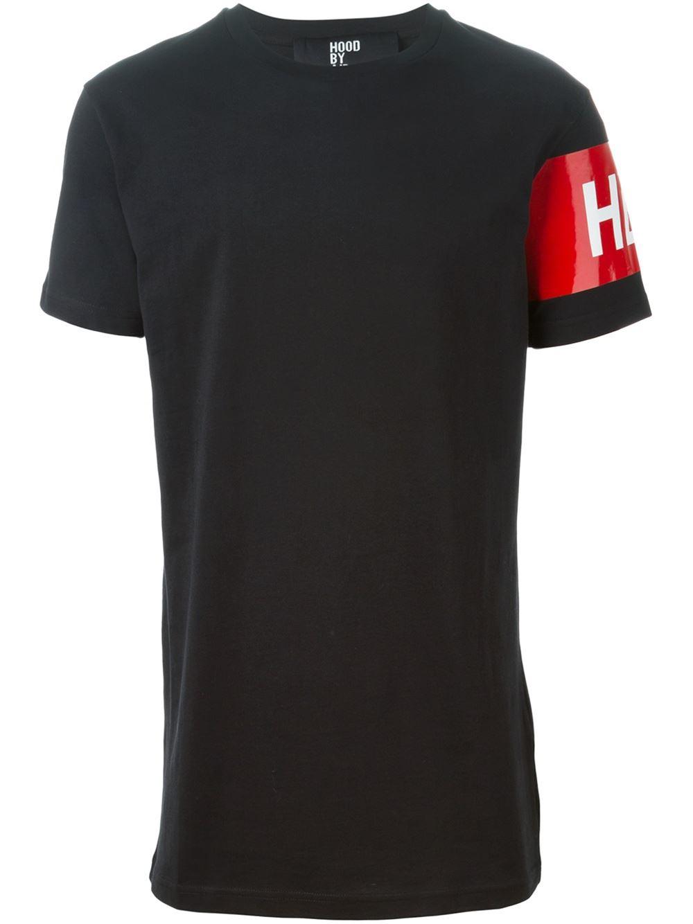 Lyst Hood By Air Logo Printed Sleeve T Shirt In Black