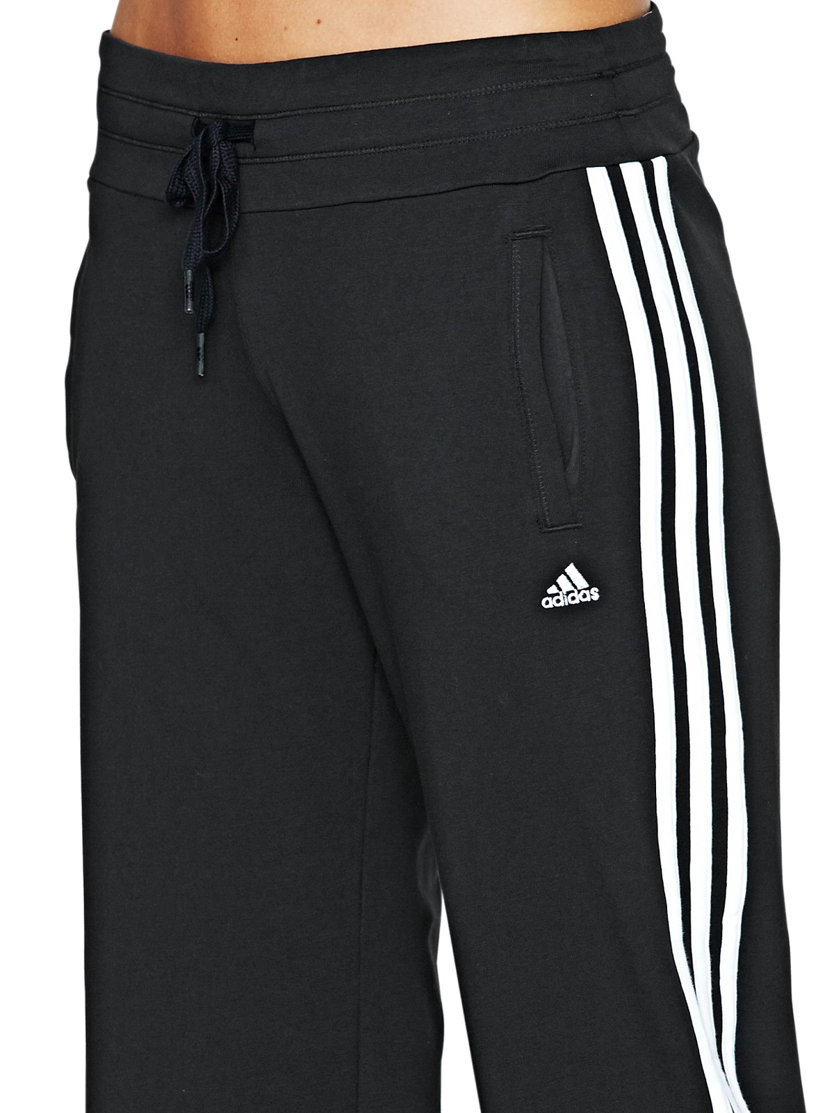 adidas adidas climalite 3s knit pants in black black. Black Bedroom Furniture Sets. Home Design Ideas