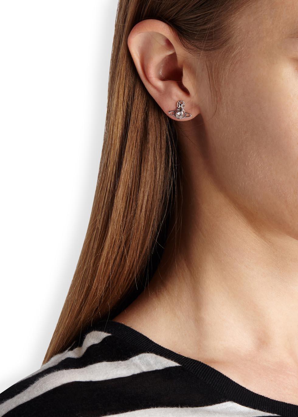 de3c0c37e Vivienne Westwood Nora Silver Tone Orb Earrings in Metallic - Lyst
