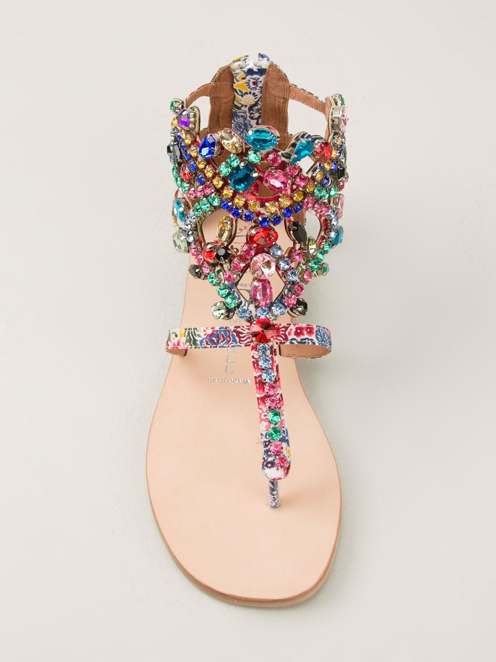 Lyst Jeffrey Campbell Jewel Embellished Sandal