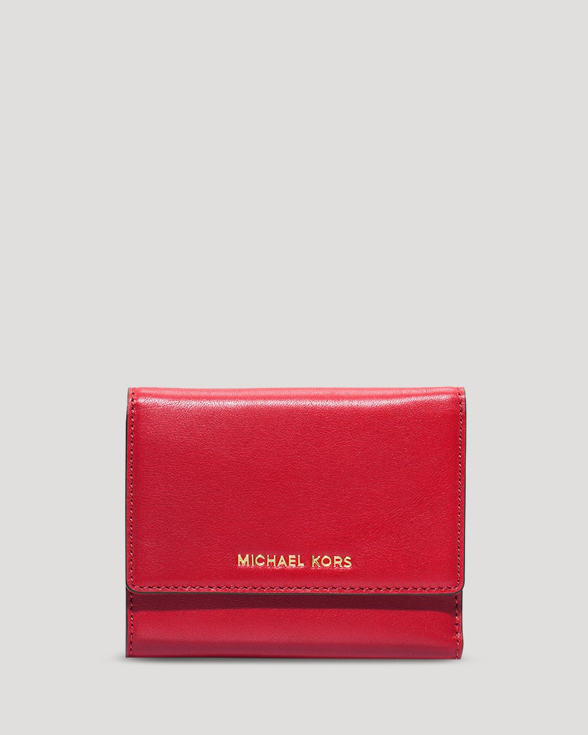 d4d17378e11cb Lyst - MICHAEL Michael Kors Wallet - Colby Medium Tri-Fold in Red