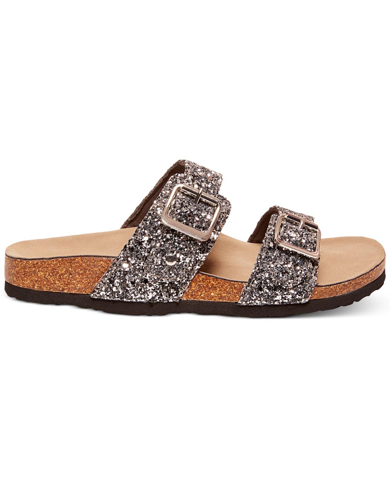462fb1deb66c Madden Girl Brando Glitter Faux-Leather Sandals in Metallic - Lyst