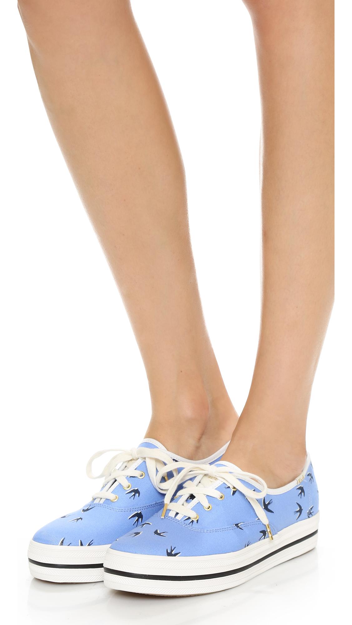 d0be5ea41c11d Lyst - Kate Spade Keds For Kate Spade Triple Kick Swallow Sneakers ...