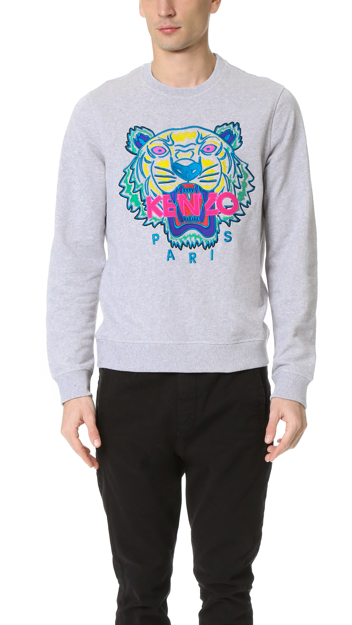 Lyst - KENZO Tiger Sweatshirt in White for Men 6b3cf2491