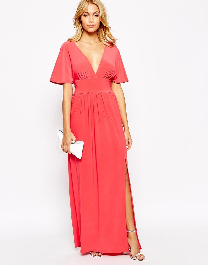 2da189af75f Lyst - Love Kimono Sleeve Maxi Dress in Pink