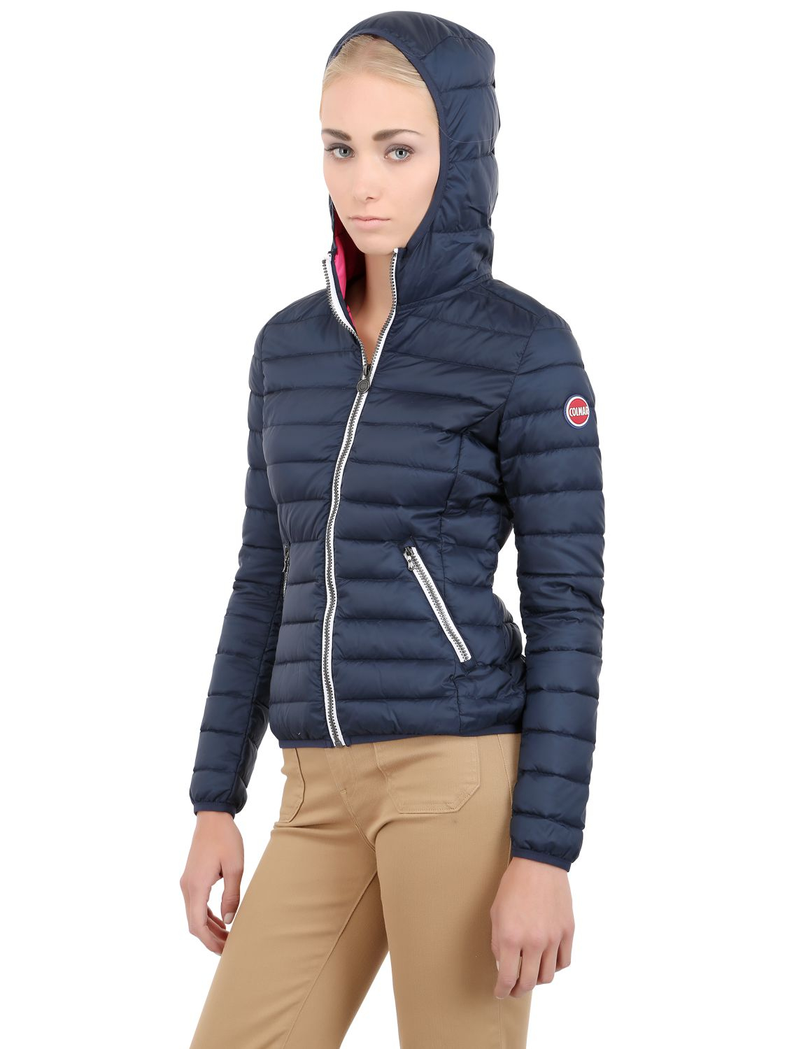 Lyst Colmar Quilted Light Nylon Down Jacket In Blue
