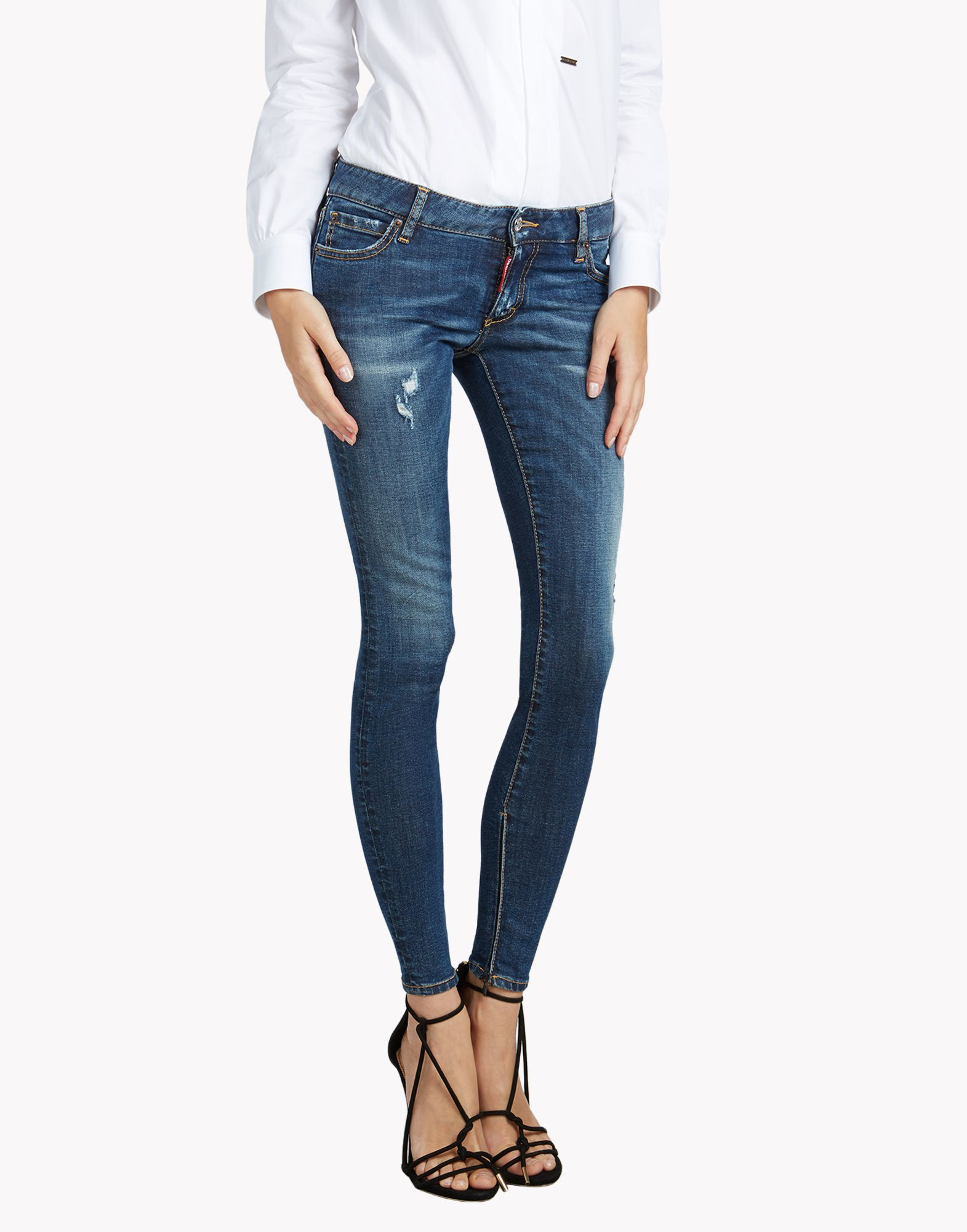 medium-waist cropped Twiggy jeans - Blue Dsquared2 jEpEnV