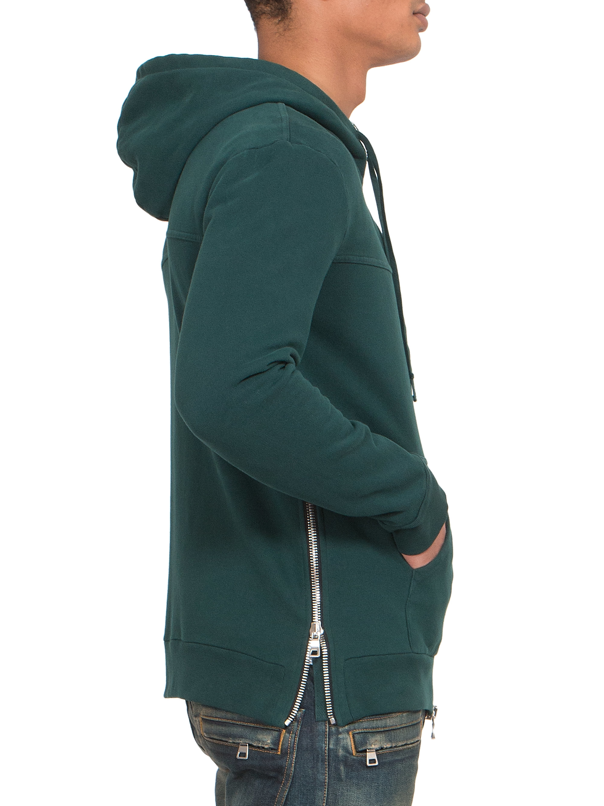 Balmain Embroidered Crest Hoodie In Green For Men Lyst