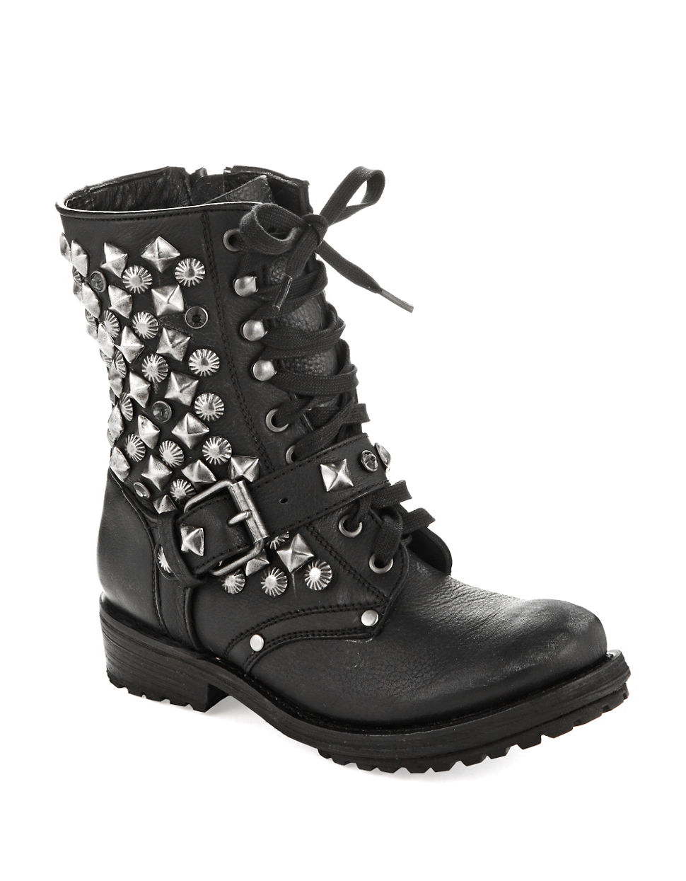 Elegant The Traditional Black Laceup Boot Prevails, And There Is No Limit To The Styling Options Regardless Of Your Personal Style, Black Combat Boots Can Be Incorporated  Band Tees And Studded Belts Thrift Stores Are The Ideal Place To Find