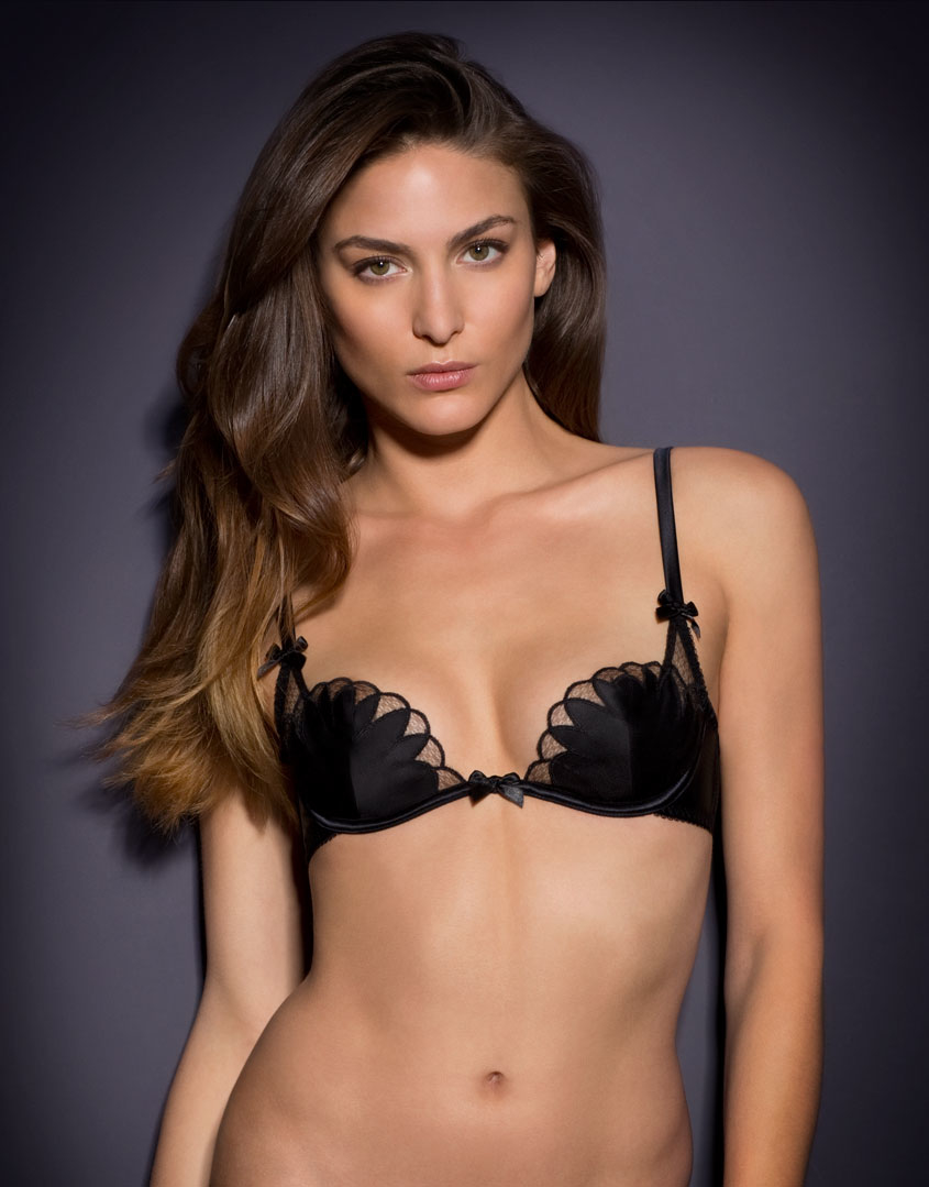Agent Provocateur Ellin Bra Black in Black - Lyst 8c6780798
