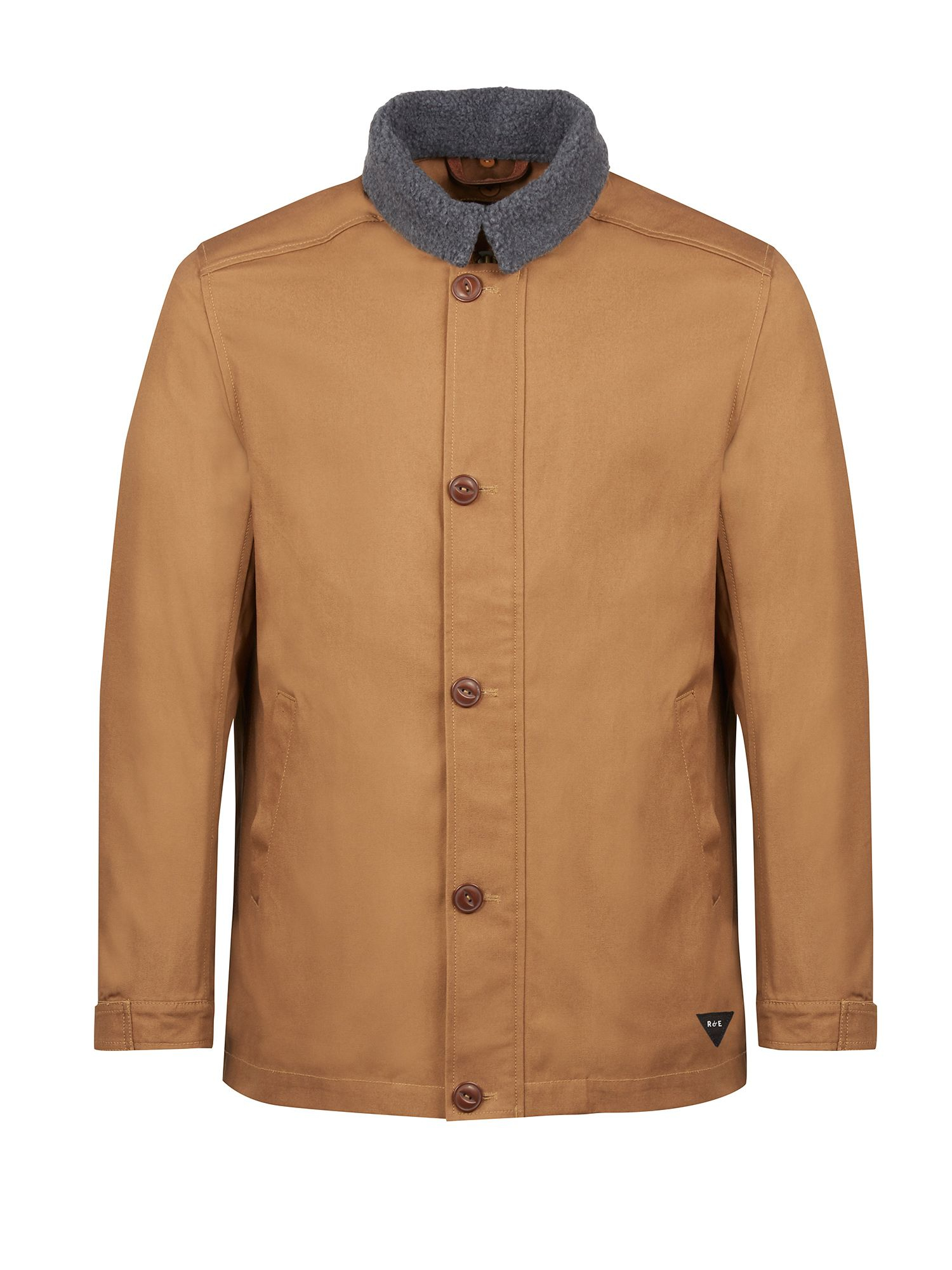 Realm & empire Car Coat With Detachable Fleece Collar in Brown for ...