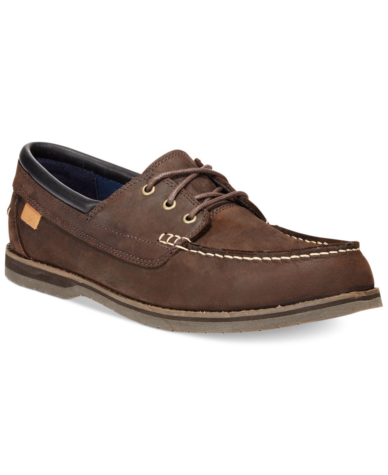 timberland men 39 s bluffton boat shoes in brown for men lyst. Black Bedroom Furniture Sets. Home Design Ideas