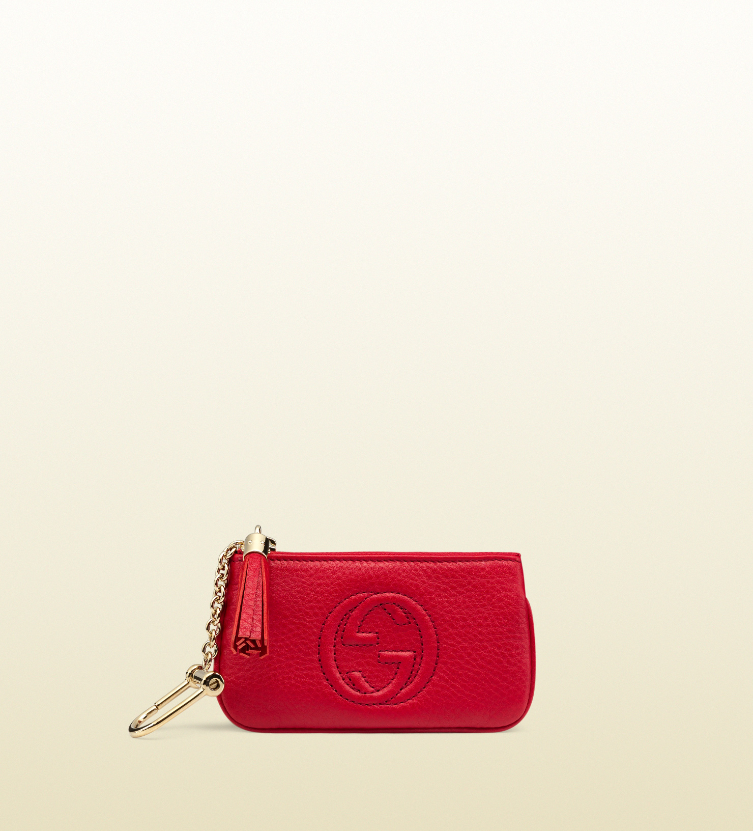 458ed56c5 Gucci Soho Leather Key Case in Red - Lyst