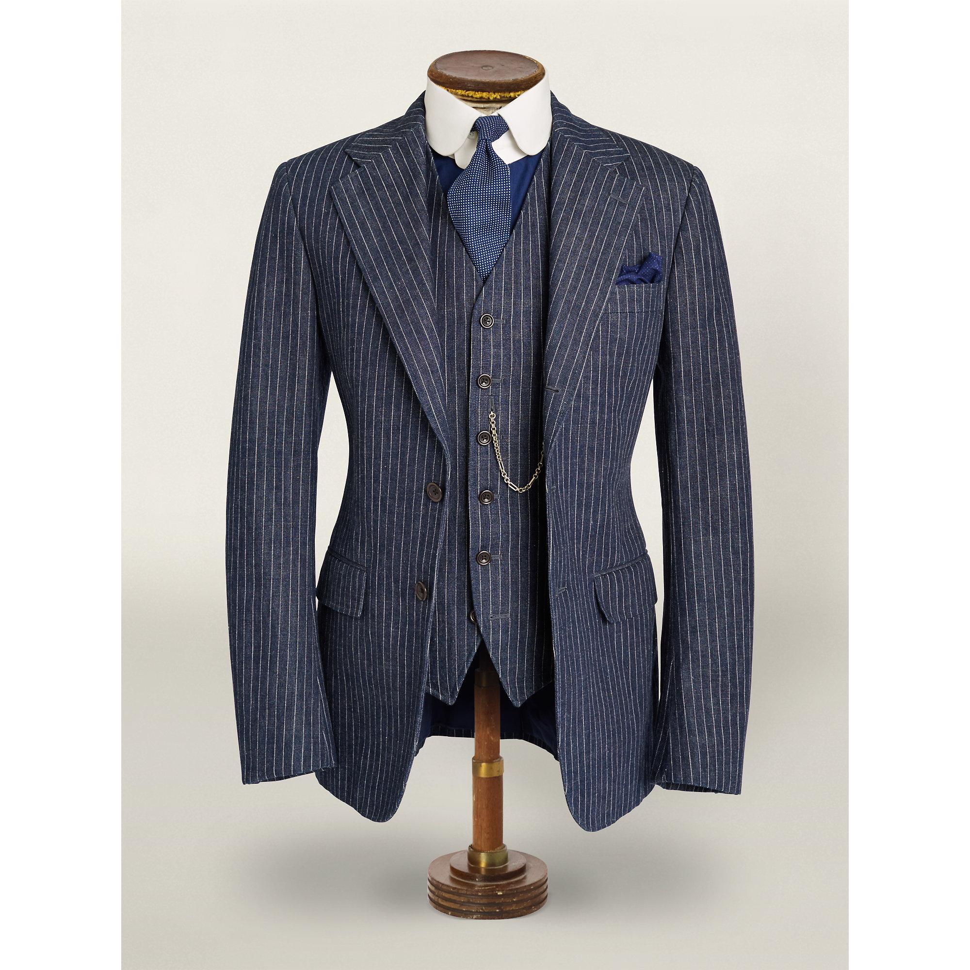 Rrl Striped Denim Sport Coat in Blue for Men | Lyst