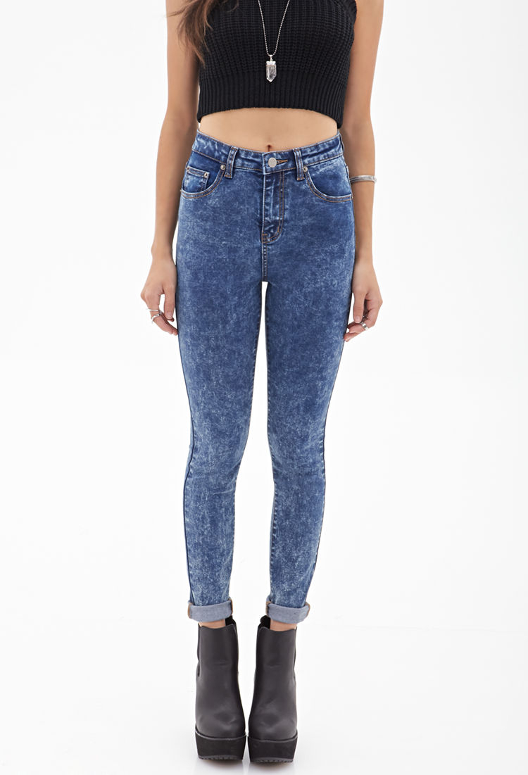 high waisted denim pants forever 21 stylische jeans in dieser saison. Black Bedroom Furniture Sets. Home Design Ideas