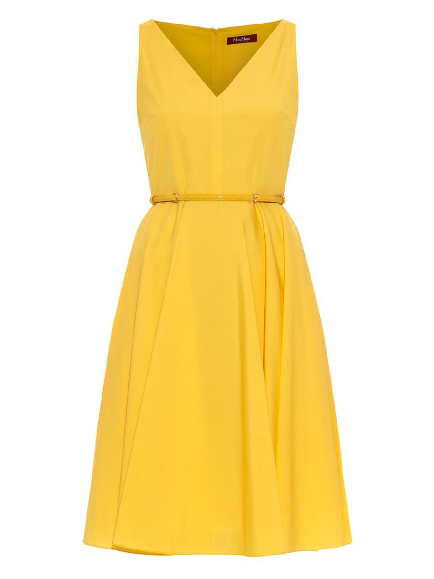 max mara studio asiago dress in yellow lyst. Black Bedroom Furniture Sets. Home Design Ideas
