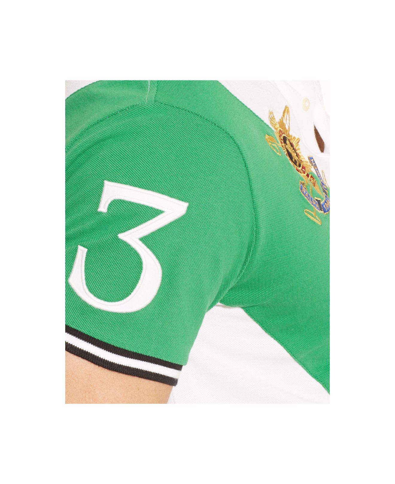 Polo Ralph Lauren | Green Black Watch Custom-Fit Banner-Stripe Polo for Men. View Fullscreen