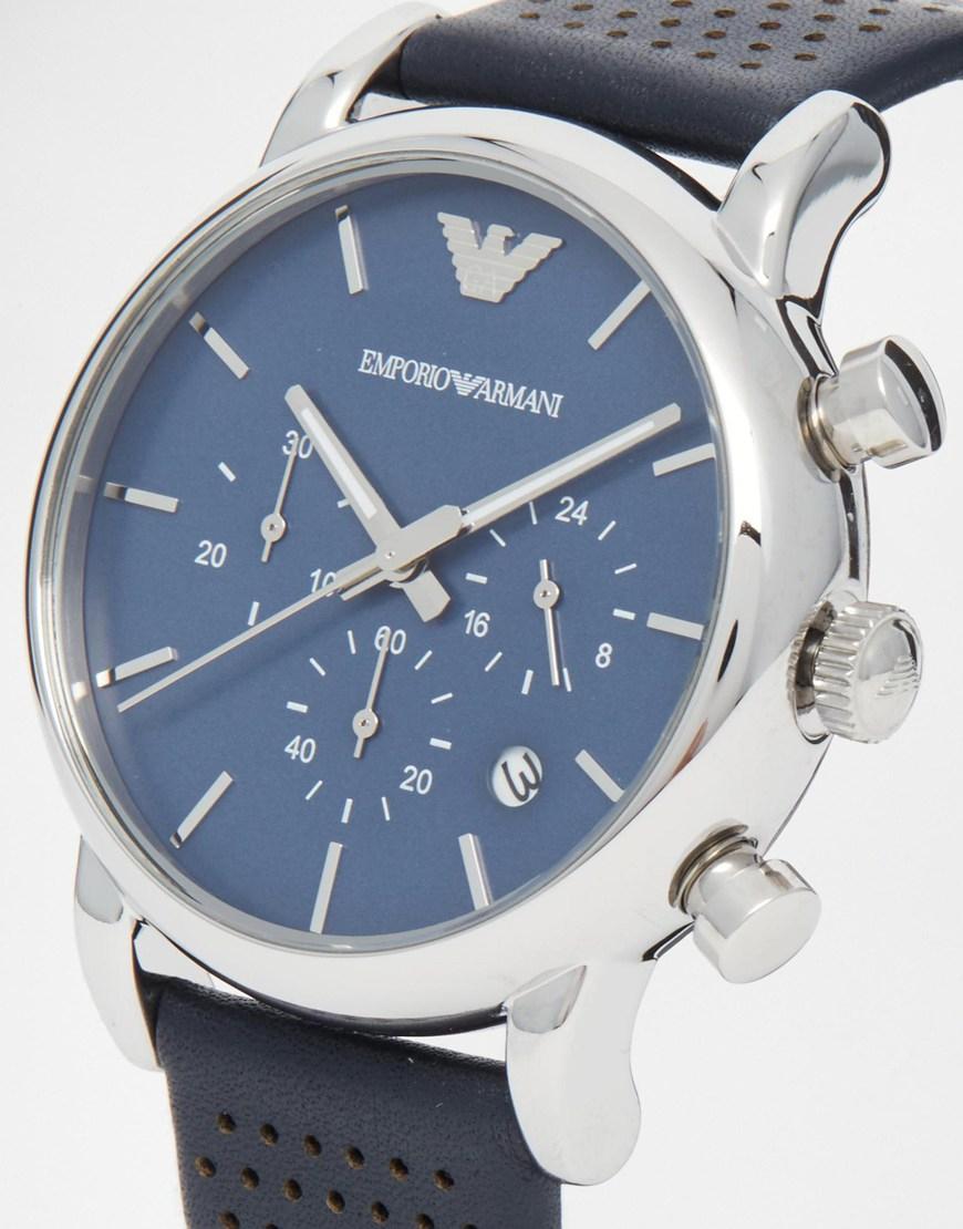 Lyst Emporio Armani Watch Luigi Ar1736 In Blue For Men Fossil Jr1515 Gallery