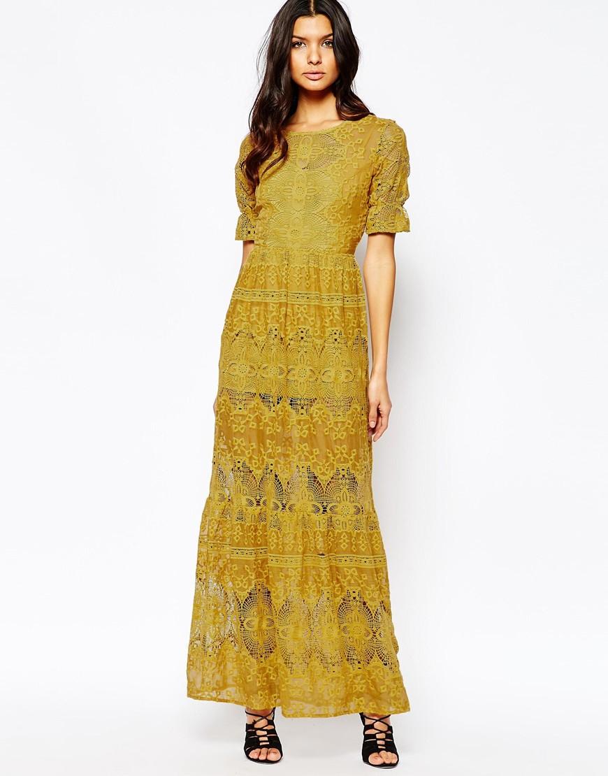 Sienna goldenrod maxi dress