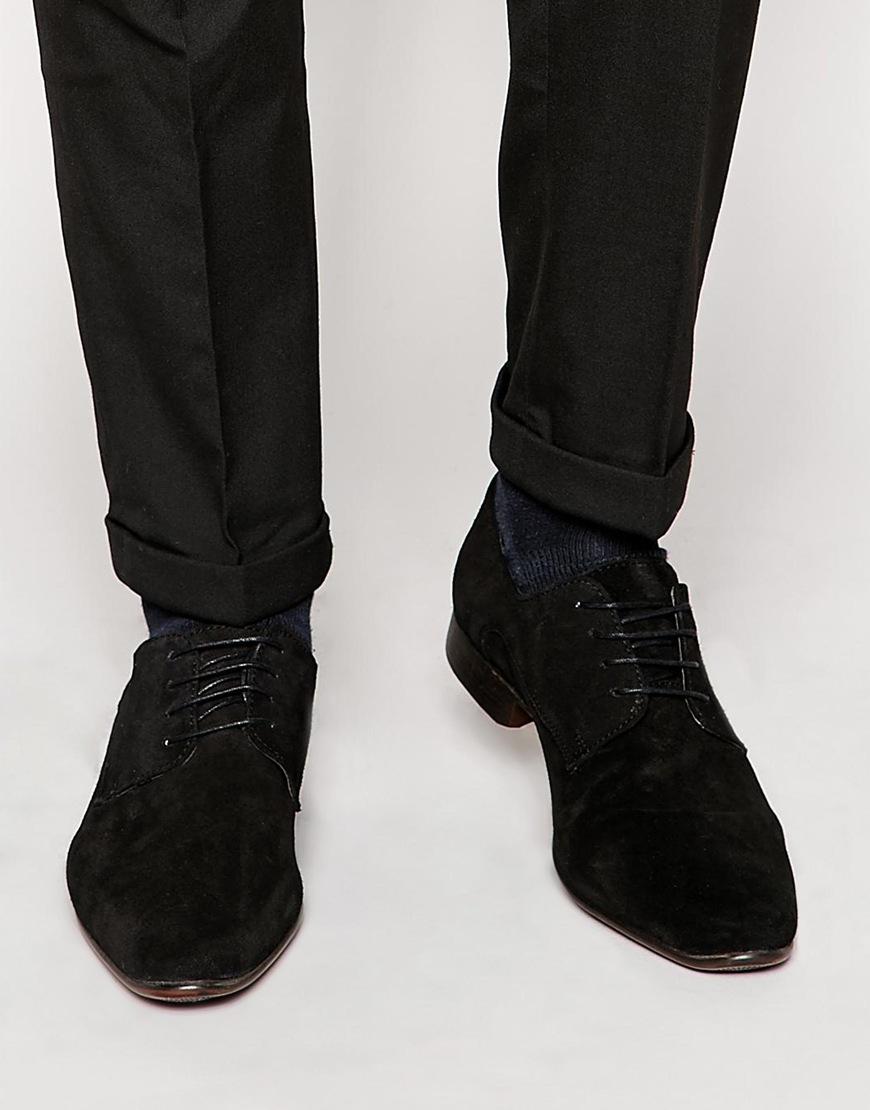 ASOS Derby Brogue Shoes In Suede KENUhuh