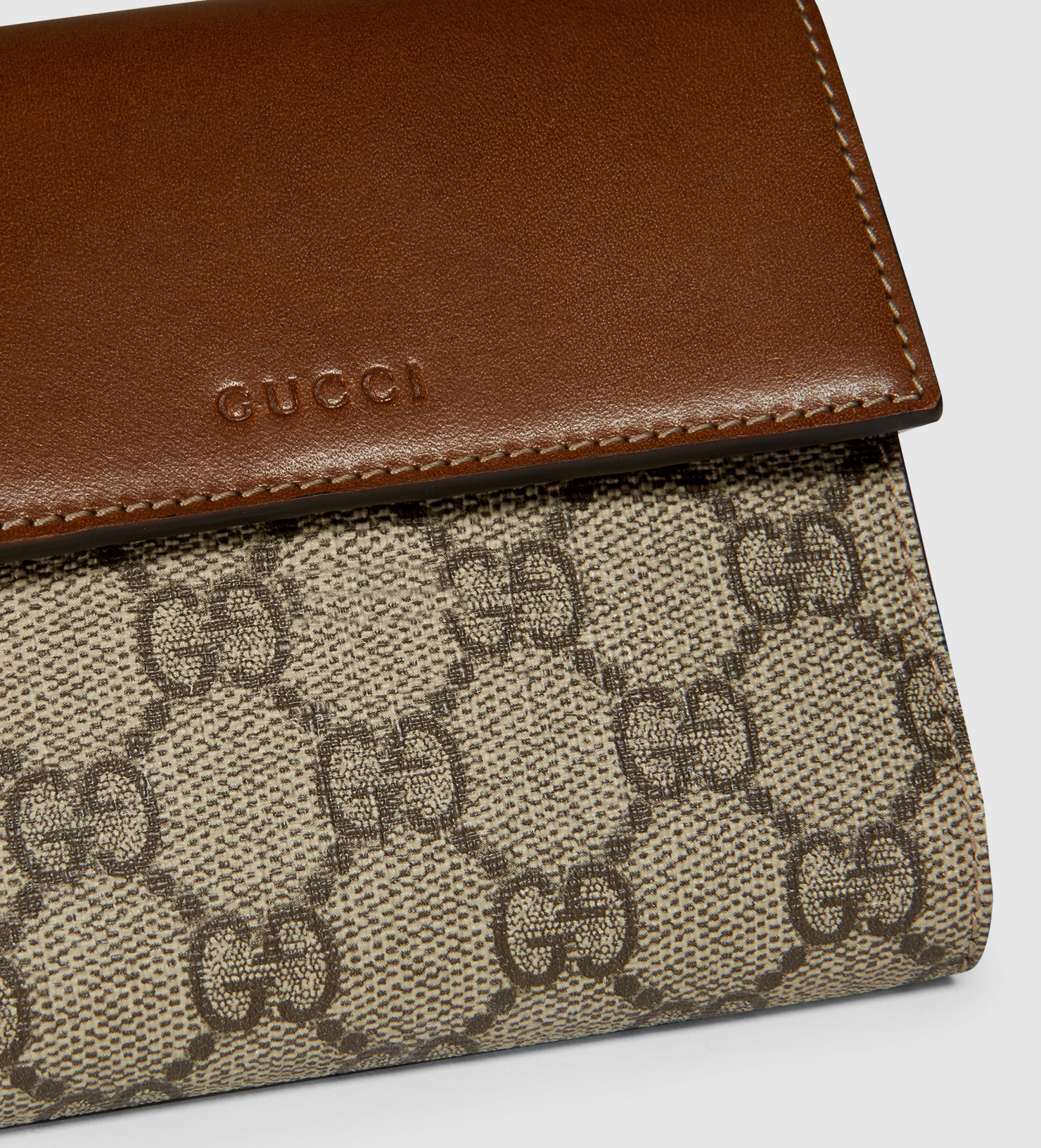 64268d12c8fc Gucci Gg Supreme French Flap Wallet in Brown - Lyst