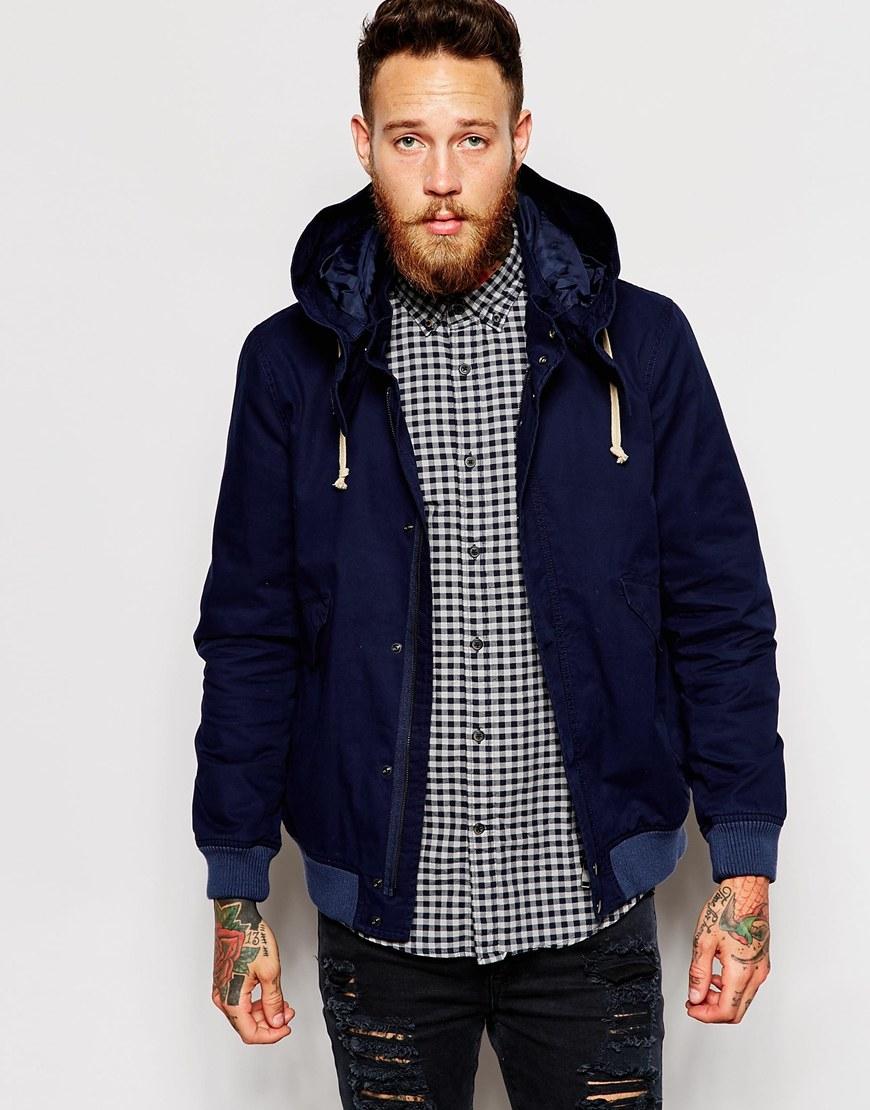 Blue Hooded Jacket pzvES9