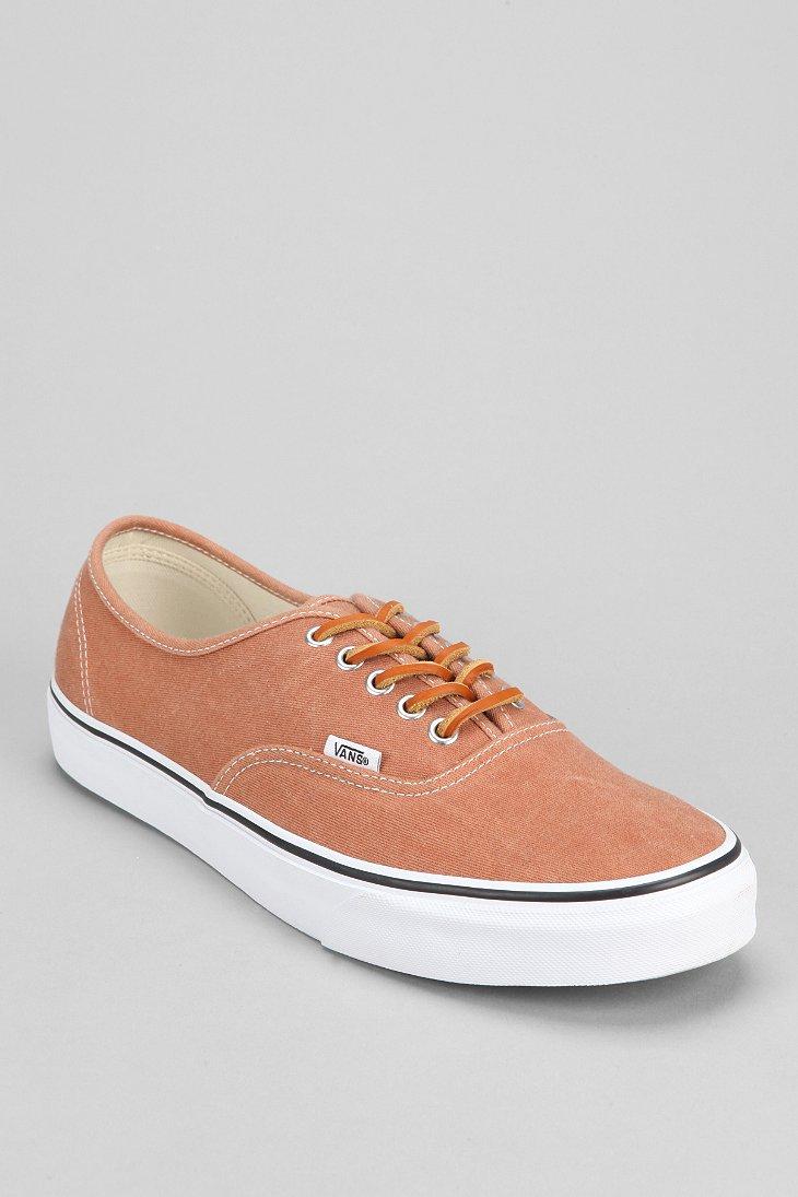 Vans Authentic Brushed Twill Mens Sneaker In Brown For Men