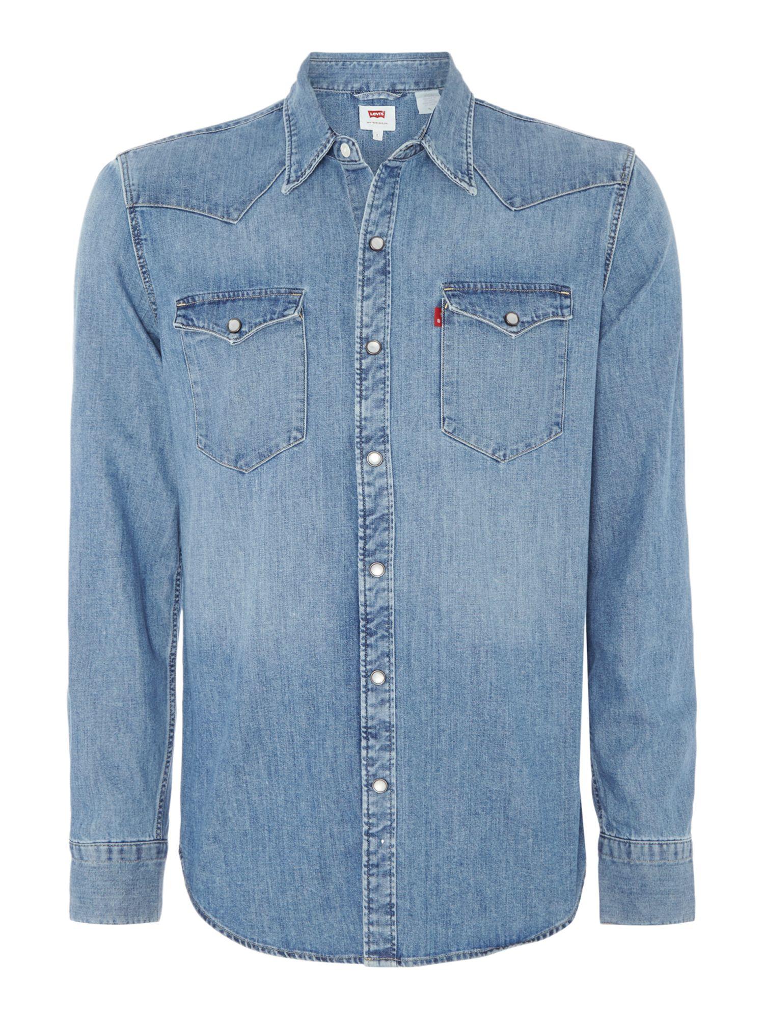 Levi 39 S Classic Fit Denim Western Shirt In Blue For Men Lyst