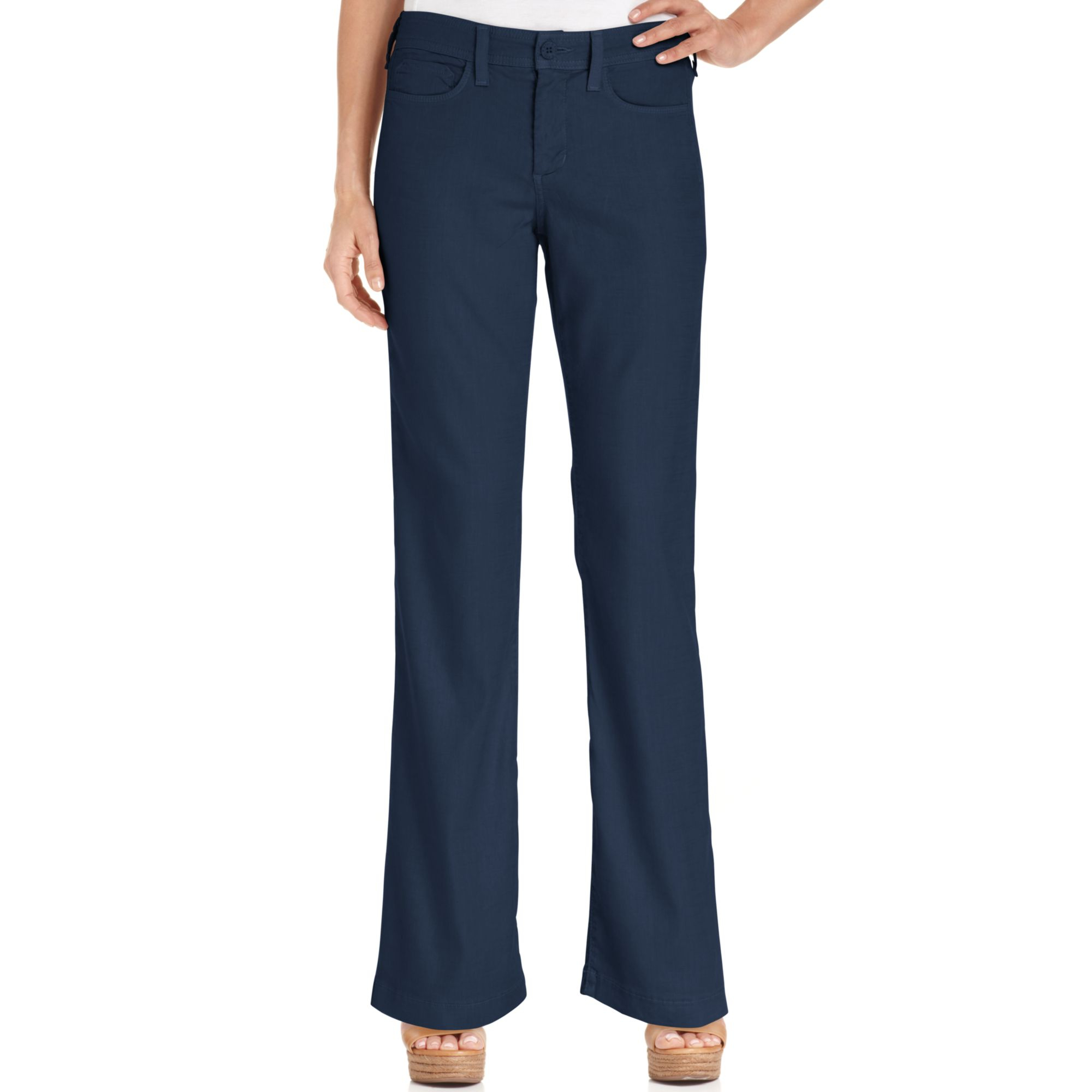 black linen pants petite - Pi Pants