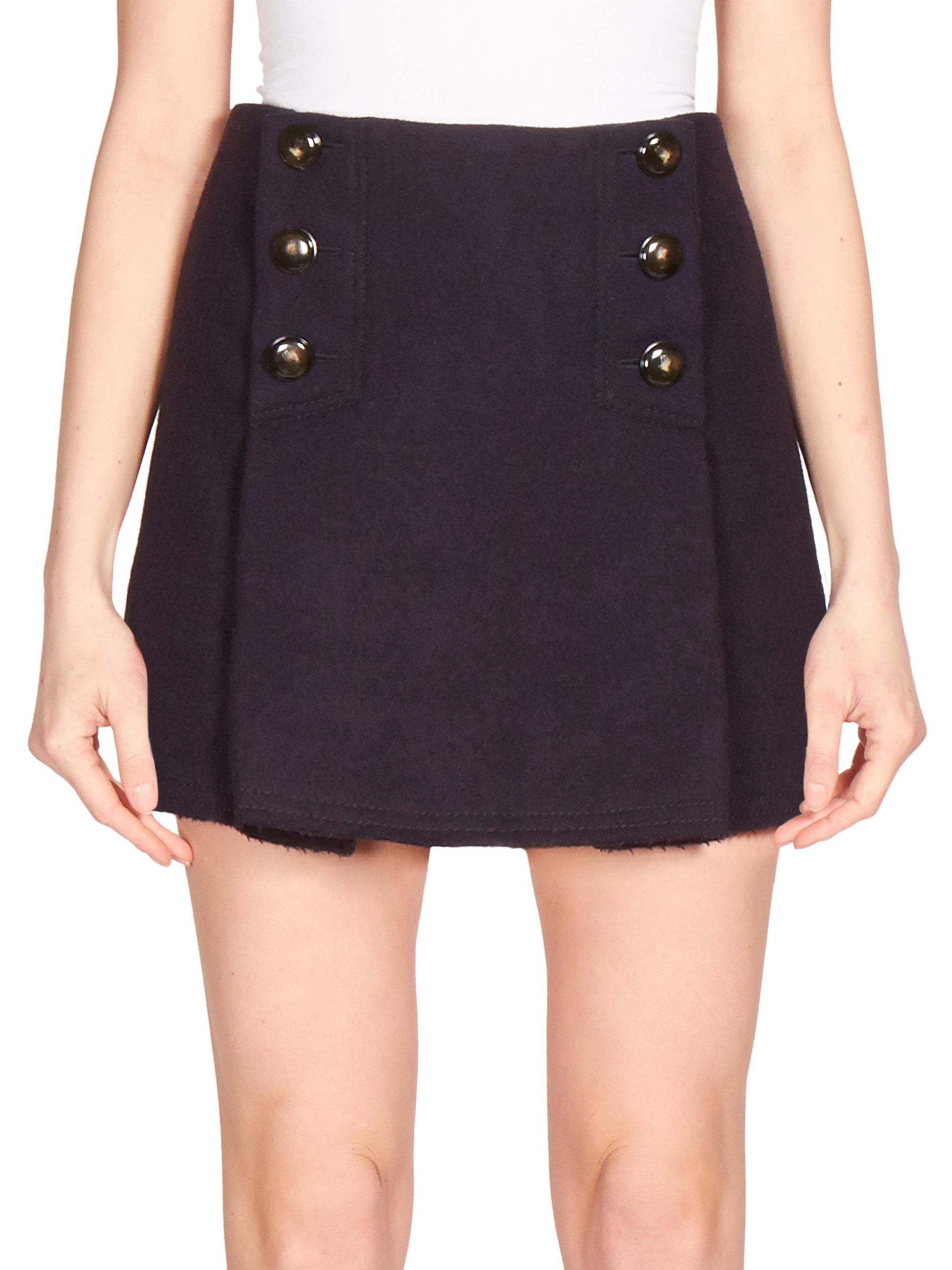 Sonia rykiel Wool Sailor Micro-mini Skirt in Blue | Lyst