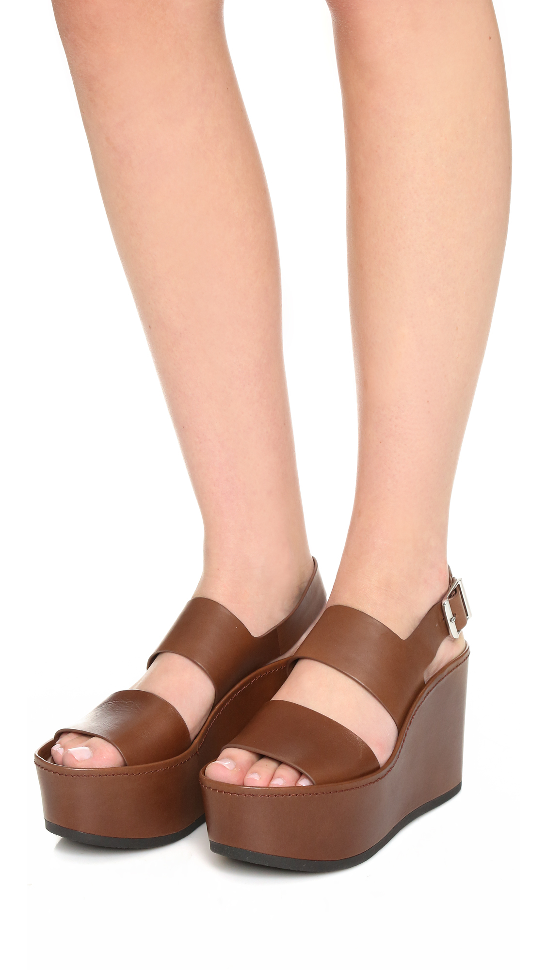 ad9bc083ee0 Lyst - Vince Idalia Wedge Sandals in Gray