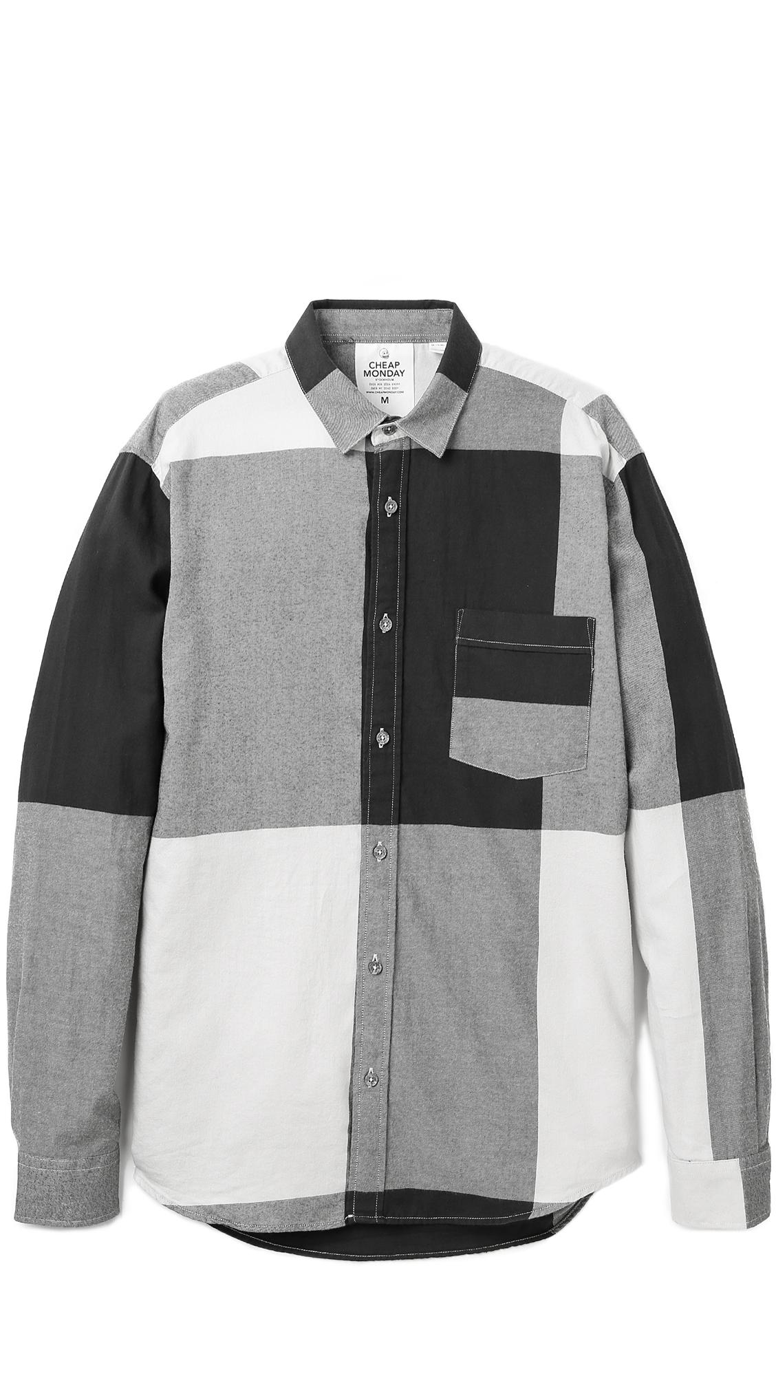 Cheap Monday Black Neo Flannel Shirt For Men Lyst
