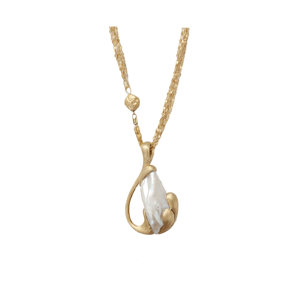 yvel freshwater pearl pendant necklace in gold ylwgold