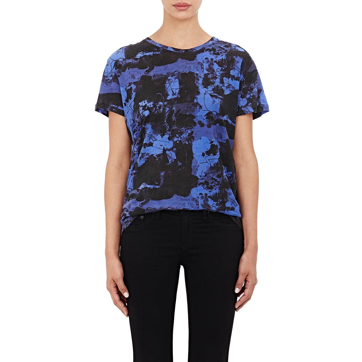 proenza schouler tissue weight t shirt in blue lyst
