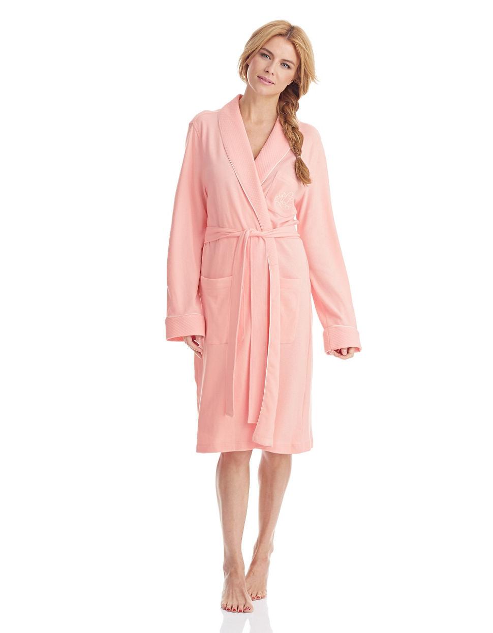 Lyst lauren by ralph lauren the hartford robe with for Robe chemise ralph lauren