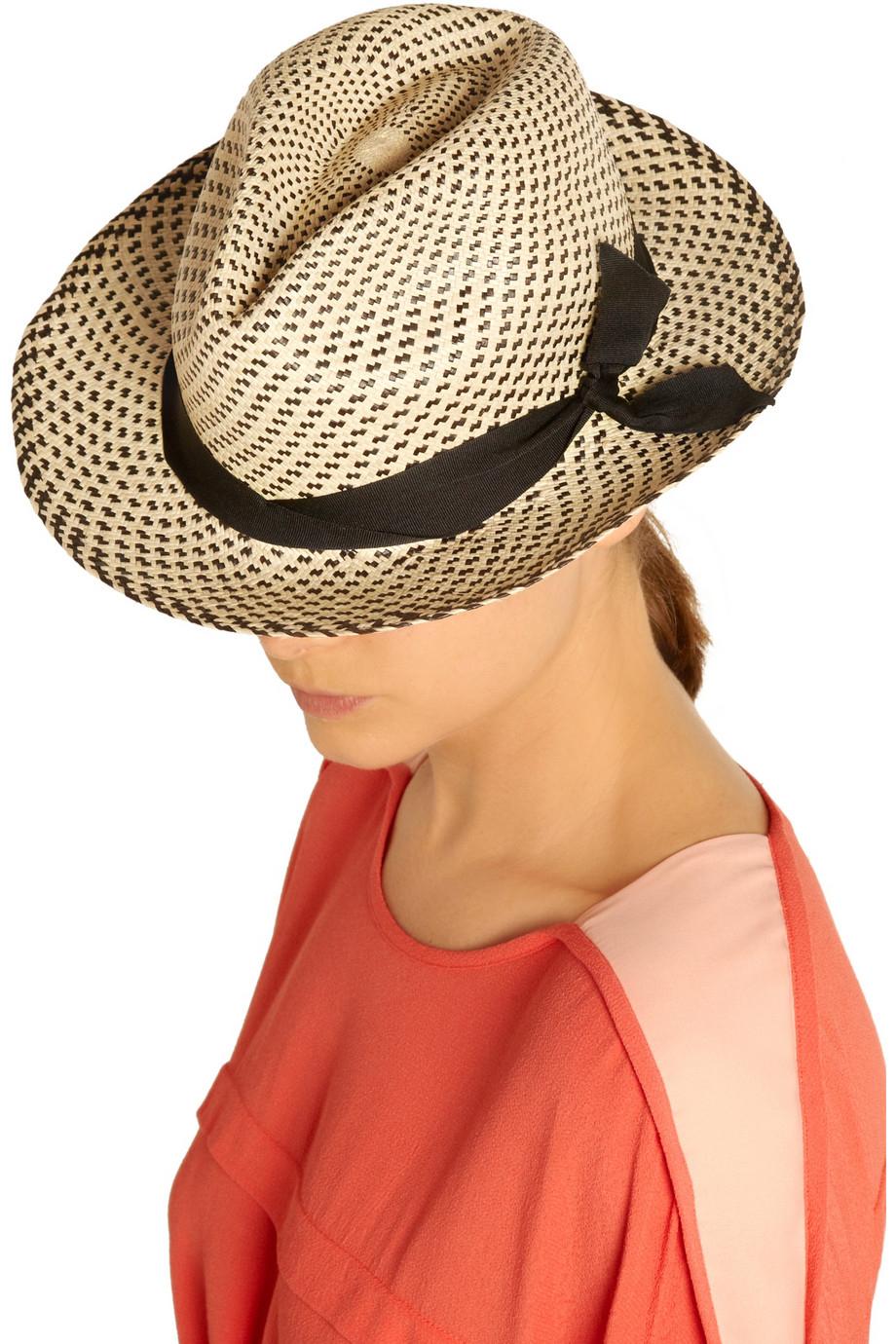 5e5d7901 Sensi Studio New Erosion Toquilla Straw Panama Hat in Natural - Lyst