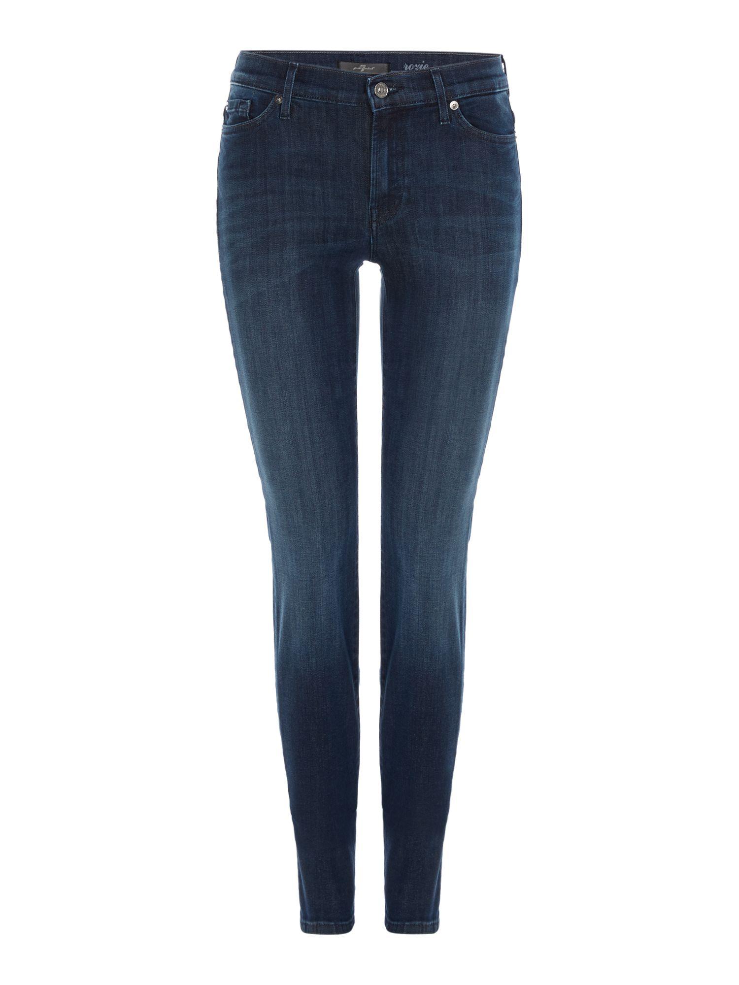 7 for all mankind Rozie Highwaist Slim Illusion Coronado Dark Jean ...