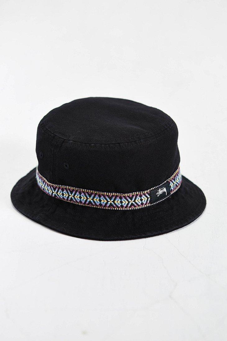 Lyst - Stussy Folk Band Bucket Hat in Black for Men cc5f0dc2147