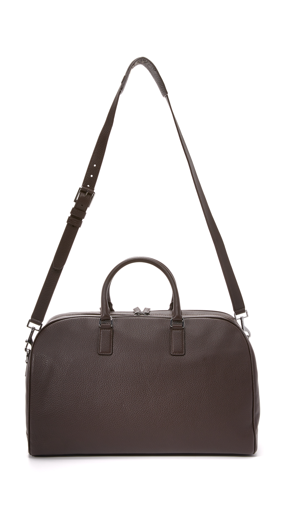 michael kors bryant pebbled leather large duffel bag in. Black Bedroom Furniture Sets. Home Design Ideas