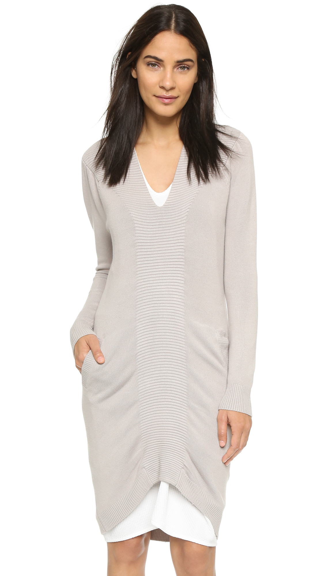 Zero + maria cornejo Quinn Sweater Dress - Oatmeal in Natural   Lyst
